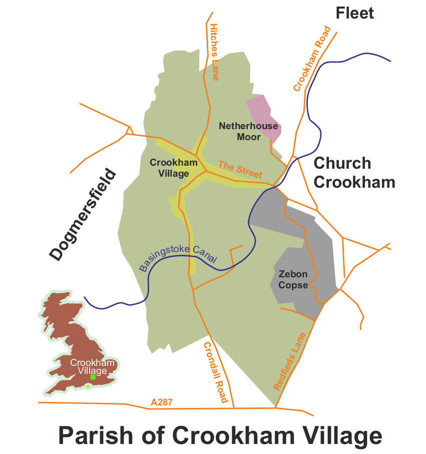 Crookham Village Parish Map