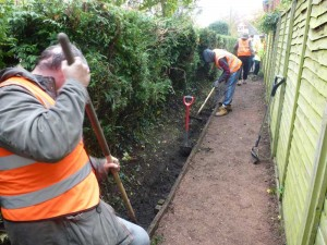 Ditch clearance by Payback Team